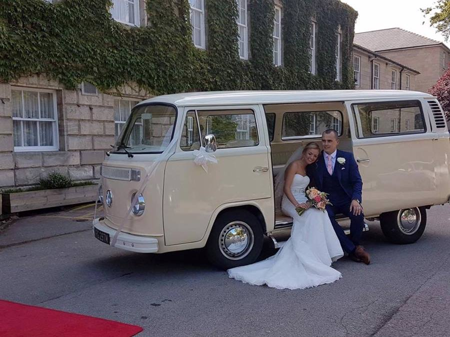 b5cfeeb9b62fcc VW Camper Van T2 Bay Window wedding car in Ivory   White - Custom ...