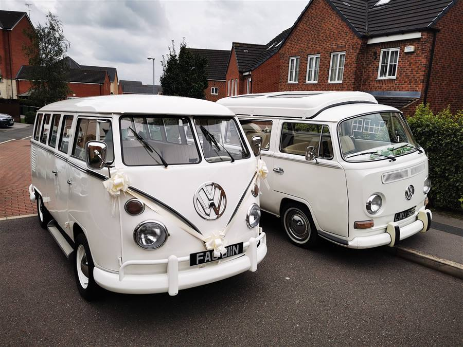 Two White VW Campervans Double campervan deal