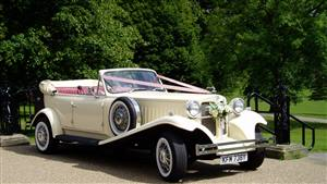 Beauford Tourer Open Top Tourer Wedding car. Click for more information.