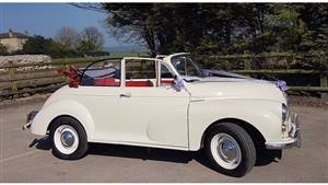 Morris Minor  1000 Wedding car. Click for more information.