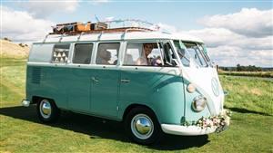 VW Campervan Split-Screen Wedding car. Click for more information.
