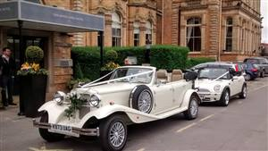Beauford & Mini Cute Convertibles Wedding car. Click for more information.