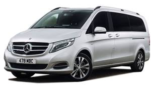 Mercedes V Class Minibus Wedding car. Click for more information.