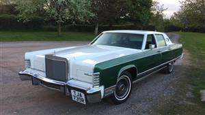 Lincoln Continental Wedding car. Click for more information.