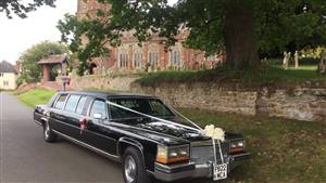 Cadillac Limousine Wedding car. Click for more information.