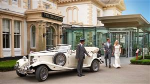 Beauford 4 Door Long Bodied Wedding car. Click for more information.