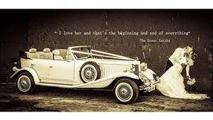Beauford 4 Door Tourer Wedding car. Click for more information.