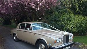 Rolls Royce 1977 Silver Shadow II Wedding car. Click for more information.