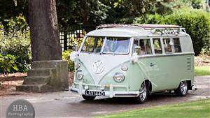 VW Campervan Split Screen Wedding car. Click for more information.