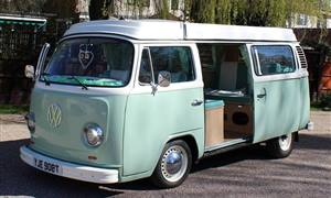 VW Campervan T2 Bay Window Wedding car. Click for more information.