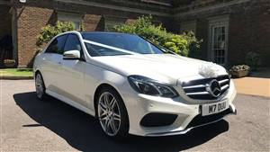 Mercedes E Class Seats 4 Passengers Wedding car. Click for more information.