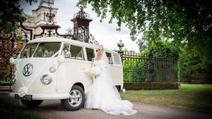 VW Split-Screen Campervan Wedding car. Click for more information.