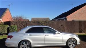Mercedes E Class Wedding car. Click for more information.