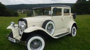 Badsworth Laundaulete Wedding car. Click for more information.