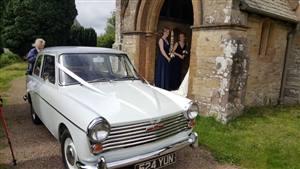 Austin A40 Farina Wedding car. Click for more information.