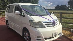 Toyota Alphard Wedding car. Click for more information.
