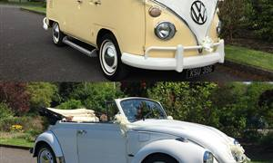 VW Package A VW Split Screen &Beetle Wedding car. Click for more information.