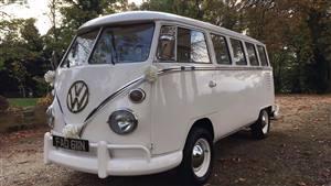 VW Split Screen Wedding car. Click for more information.