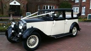 Rolls Royce Laundaulette Wedding car. Click for more information.