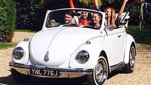VW Karmann Beetle Wedding car. Click for more information.