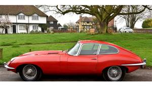 Jaguar E-Type Series 2 Wedding car. Click for more information.