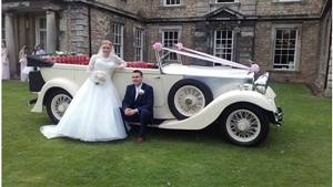 Rolls Royce 1934 Tourer Wedding car. Click for more information.