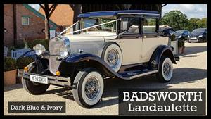 Badsworth Landaulette Wedding car. Click for more information.