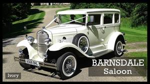 Barnsdale Saloon Wedding car. Click for more information.