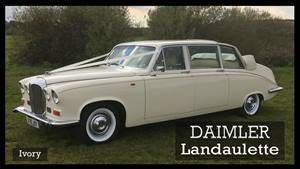 Daimler Landaulette Wedding car. Click for more information.
