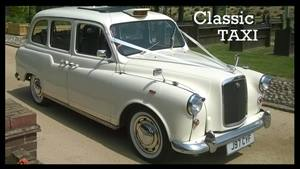 London Taxi Classic Wedding car. Click for more information.