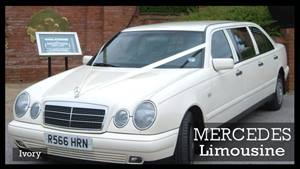 Mercedes W210 Limousine Wedding car. Click for more information.