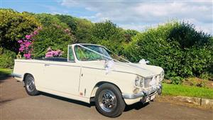 Triumph Vitesse Wedding car. Click for more information.
