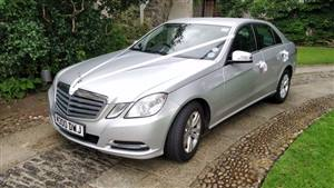 Mercedes E Class Saloon Wedding car. Click for more information.