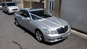 Mercedes S Class Limousine Wedding car. Click for more information.
