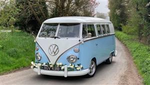 VW Campervan Split Screen Wedding car. Click for more information.
