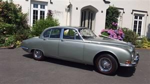 Jaguar 1965 MK2 Wedding car. Click for more information.
