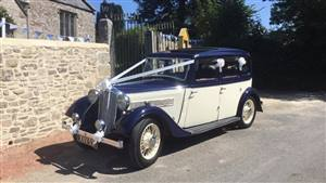 Rover P1 Wedding car. Click for more information.