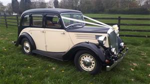 Wolseley 1946 12/48 Wedding car. Click for more information.