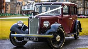 Austin 16/6 Saloon Wedding car. Click for more information.