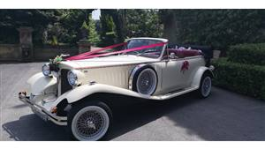 Beauford Convertible Wedding car. Click for more information.