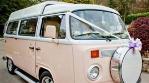 VW Campervan Bay Window Wedding car. Click for more information.