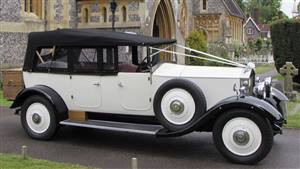 Rolls Royce 1932 Open Tourer Wedding car. Click for more information.