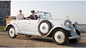 Rolls Royce 1936 Open Tourer Wedding car. Click for more information.