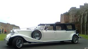 Beauford 4 Door Wedding car. Click for more information.