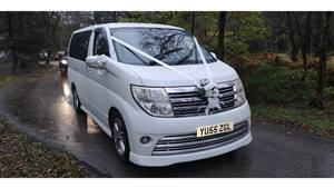 Nissan Elgrand Rider Autech Wedding car. Click for more information.