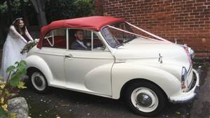 Morris Minor Wedding car. Click for more information.