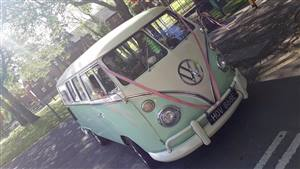 VW Campervan Splitscreen Wedding car. Click for more information.