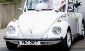 VW Beetle Wedding car. Click for more information.