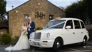 London Taxi International TX1 Wedding car. Click for more information.