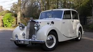 Triumph Renown 1951 Wedding car. Click for more information.